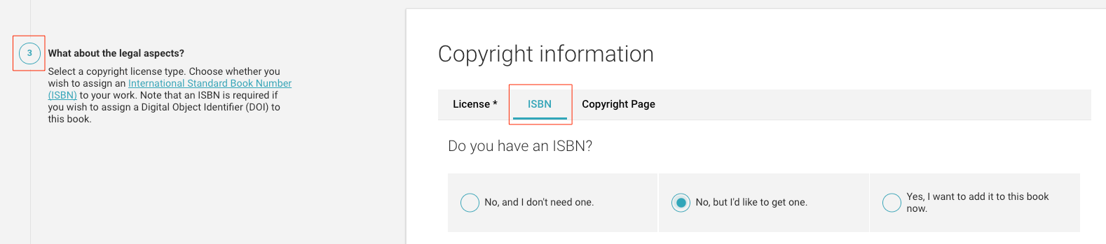 ISBN tab screenshot